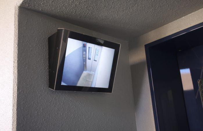 エレベーターへの防犯カメラ設置の図