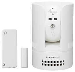 PLANEX カメラ一発! 無線センサー対応 パン・チルト ネットワークカメラ・4in1 多機能センサーセット(ドア開閉/温度/湿度/照度) CS-W72Z-K1