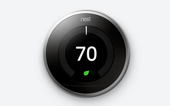 nest社の高機能サーモスタット(Nest Learning Thermosta)の本体
