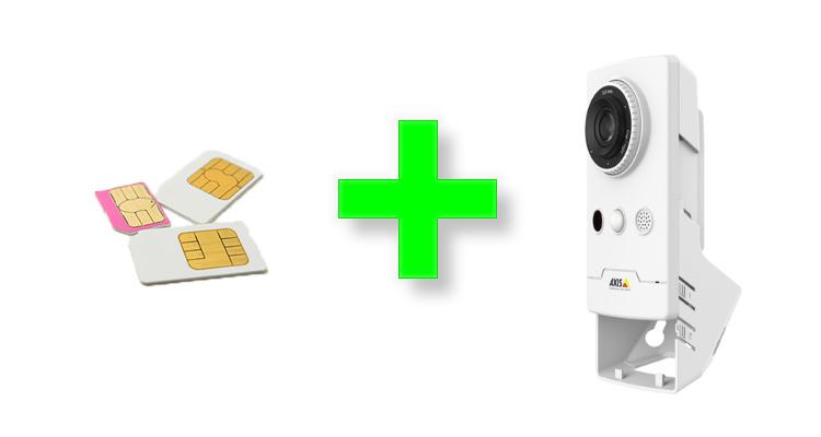 モバイルSIMを利用して防犯カメラシステムを構築する手っ取り早い方法